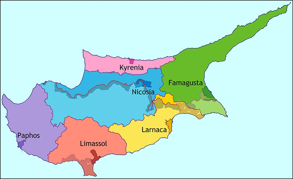 Map of Cyprus 1:175.000